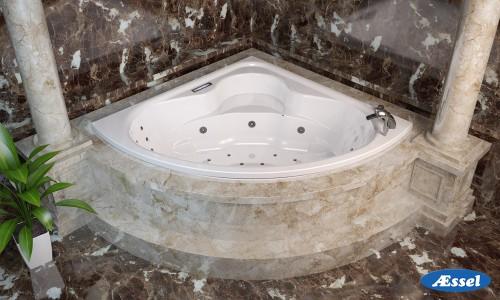 160х160 Ванна Ниагара  (симметричная)